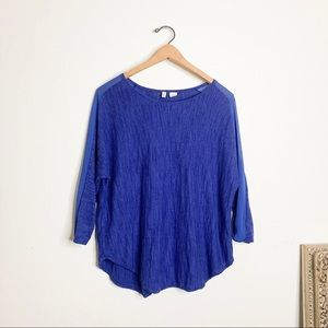 Moth Anthropologie Royal Blue Casual Blouse